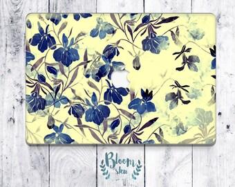 Flower macbook air skin macbook air sticker macbook air decal botanic macbook laptop vinyl skin BS021