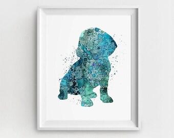 Dachshund Art, Dachshund Print, Puppy Dachshund, Dachshund Wall Art, Turquoise, Nursery Printable, Watercolor Dachshund, Dachshund Painting