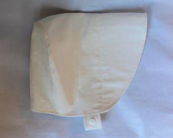 White Linen Sun Hat 18-36 mos