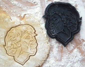 Mick Jagger face cookie cutter. Rolling Stones cookie cutter. Mick Jagger cookies