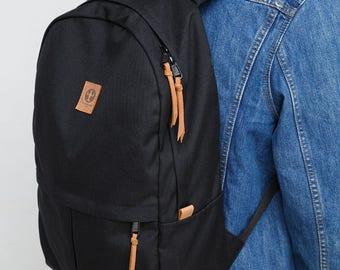 Black Backpack bag Laptop bag School backpack Handmade backpack Backpack for school Kandelabr backpack men Backpack hipster backpack Daypack