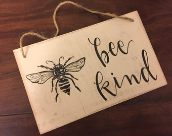 Bee Kind | Rope Hanger