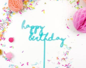 Cake Topper   Cake Decor   Happy Birthday