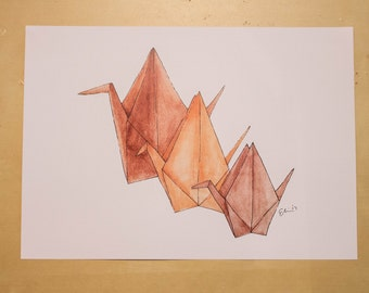 Cranes - Watercolour Print