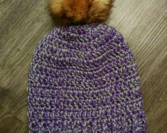 Tuque slouchy for adult hand made crochet, 100% Acrylic