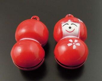 "Bell Charm ""CHRISTMAS GIRL"" 2 pcs Pendants-Metal Charm-Jewelry Supplies"