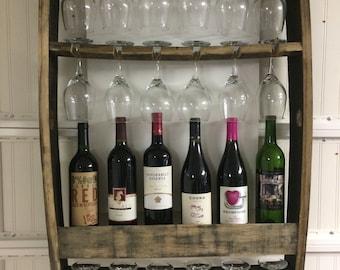 Wine & wine glass rack. Great Bride Wine Gift.