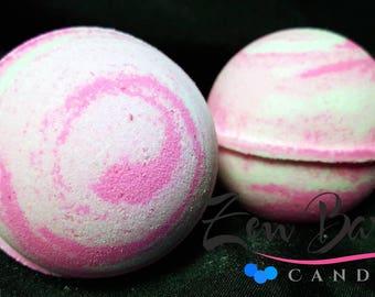 Pink Sugar Bath Bomb   Bath Bombs   Bath Fizz   Vegan   Handmade