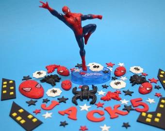 Spiderman  inspired cake topper