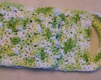 Exfoliating Back Scrubber, Massage Back Scrubber, Crochet Back Scrubber, Cotton Back Scrubber