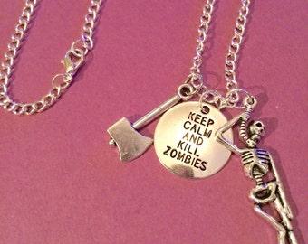 Le collier Walking dead inspiré, The Walking dead bijoux, The Walking dead cadeaux item178 par CraftyLittleMonkeyGB