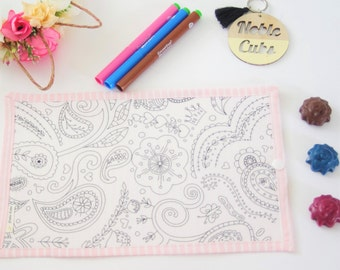 Colouring Mat Add on -Paisley