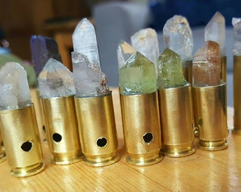 Small Crystal Bullet Necklace
