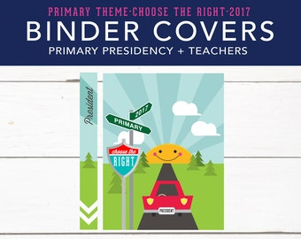 LDS Primary Presidency, Biner Covers, Choose the Right, Printable, Bulletin Board Elements, LDS 2017, Printables