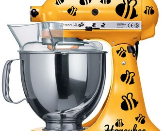 Kitchen Mixer Honeybee Set Decal Vinyl Decal Sticker KitchenAid