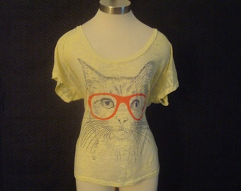 Five Crown Vintage Cat Sheer T Shirt Womens Size