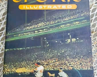 Sports Illustrated First Edition – August 16, 1954 – 27 Baseball Cards Included – Very Fine Vintage Condition