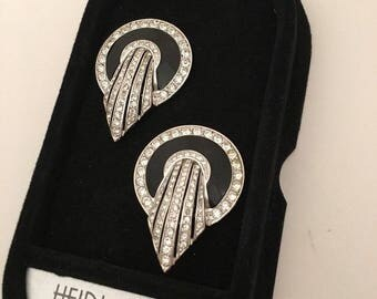 Vintage Art Deco Comet Earrings Heirlooms of Tomorrow Signed and Numbered