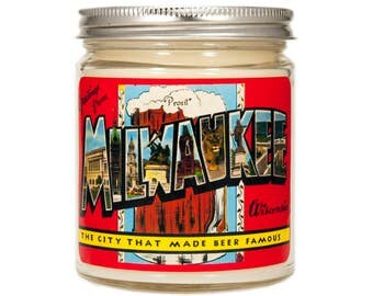 Milwaukee Wisconsin Gift, Homesick Candle, Milwaukee Gift, Scented Candle, Soy Candle, Candle Gift
