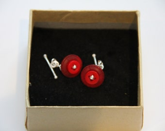 Two Red Button Cufflinks