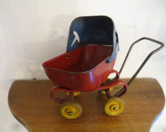 Doll Toy metal Carriage Buggy Vintage Pram Toy w/ free ship