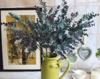 Artificial succulents Eucalyptus leaves plant Green room fresh 66cm Adornment photography props home Decor Decorate