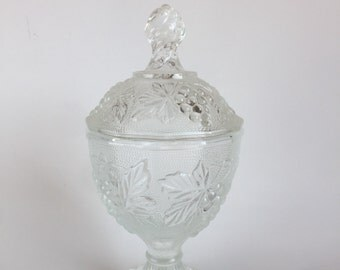 Concord footed glass candy dish