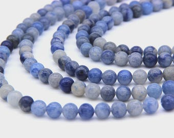 Natrual Blue Aventurine Beads 6mm 8mm 10mm 12mm Navy Blue Beads Sapphire Blue Gemstone Beads Aventurine Mala Beads Blue Mala Beads Supplies