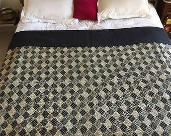 Summer bed cover, thin blanket, spare blanket, black coverlet , KQ0204