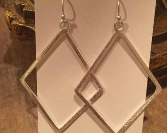 Silver Diamond Earring
