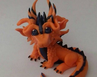 Little Orange and Blue Dragon