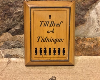 antique mailboxletter box from 1905 sweden with irginal paint