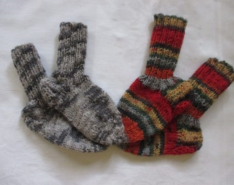 2 Pack Twin Pack baby socks hand made foot 11.5-12 cm Gr. 18/19 socks wool