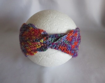 Baby headband hair band selfmade twisted brightly coloured ear warmers Earwarmer