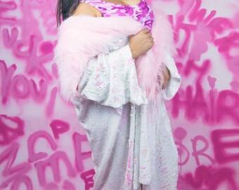 Leni Sequin Kimono - Pearl & Pink