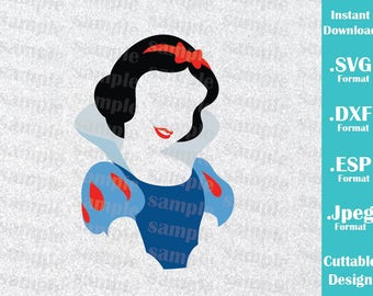 INSTANT DOWNLOAD SVG Disney Inspired Princess Snow White for Cutting Machines Svg, Esp, Dxf and Jpeg Format Cricut Silhouette