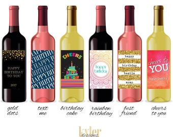 PRINTABLE Birthday Wine Label
