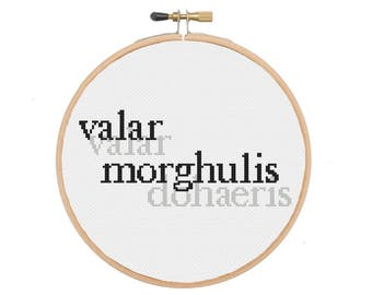 Valar Morghulis Game of Thrones Cross Stitch Pattern