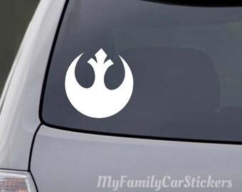 Star Wars Rebel Alliance decal, Rebel Alliance sticker, Rebel Alliance Car decal, Rebel Alliance window sticker, Rebel Alliance Laptop decal