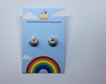 Sprinkle doughnut earrings
