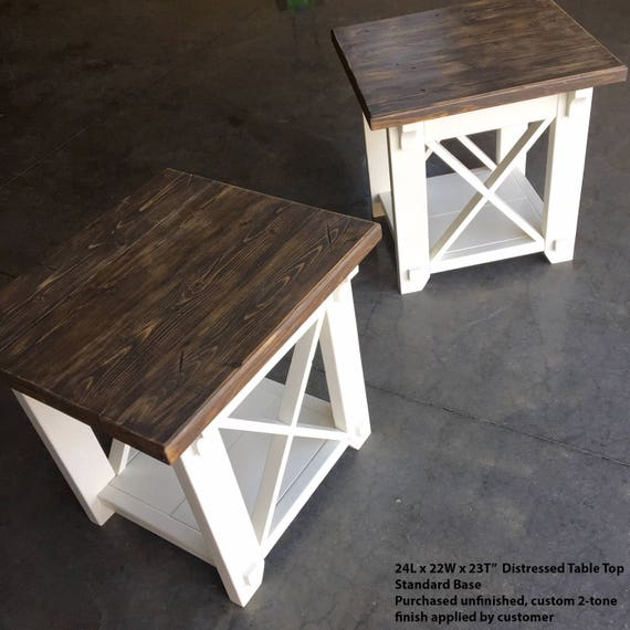 End Table Side Table XStyle Country Side Table X Side
