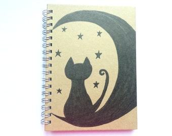 Book cat in the Moon