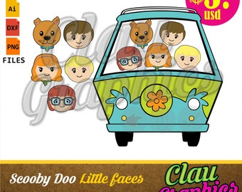Scooby Doo little faces SVG patterns, DXF files, PNG images and editable file, cute patterns for paper craft projects and much more