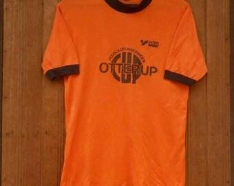 Rare!! Vintage INTER SPORT jersey shirt fodboldturneringen otterup made in Denmark orange colour medium size