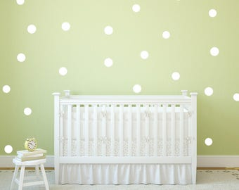 Polka Dots Wall Decal - 5cm Set of 18+ - Wall Sticker - Nursery Pattern Kids Wall Decal | PP103
