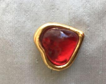 Ysl vintage brooch heart