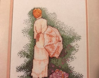 Vintage counted cross stitch  Color Charts Grace pattern
