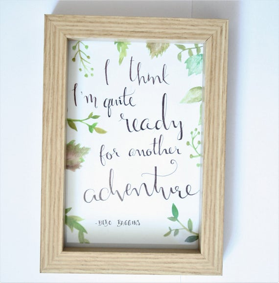 Fiver Friday || Lord Of The Rings Print || Calligraphy Print ||  Inspirational