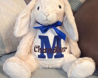 Personalized stuffed bunny with name, custom name on stuffed bunny, monogrammed rabbit