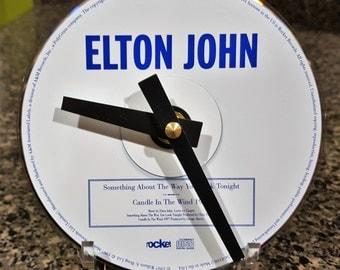 Elton John CD Clock